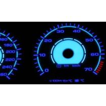 Plazma számlap VW GOLF III 260km/h